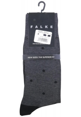 FALKE DOT ANKLET CHARCOAL