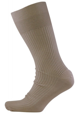 BG BEIGE SOCK COTTON NON...