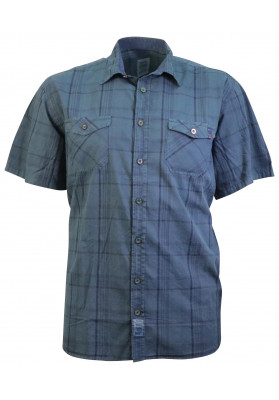 STERLING TEAL S/S CHECK SHIRT