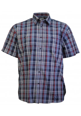 STERLING NAVY/RED S/S CHECK...