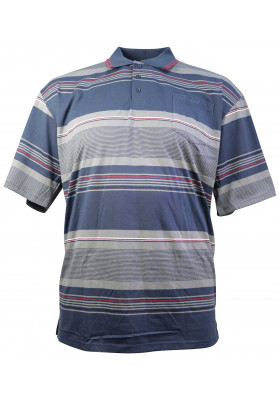 STERLING NVY/GRY S/S STRIPE...