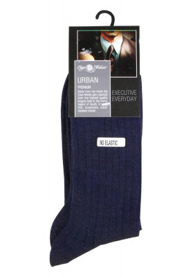 CAPE MOHAIR NAVY SOCK RIB...