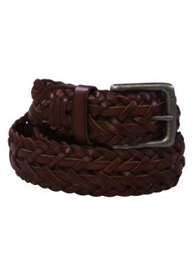 POLO BROWN WEAVE BELT