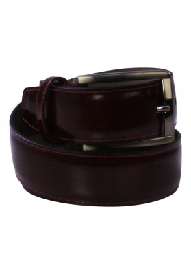 PARIS BURGANDY HI-SHINE BELT