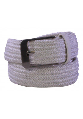 PARIS WHITE ELASTIC BELT